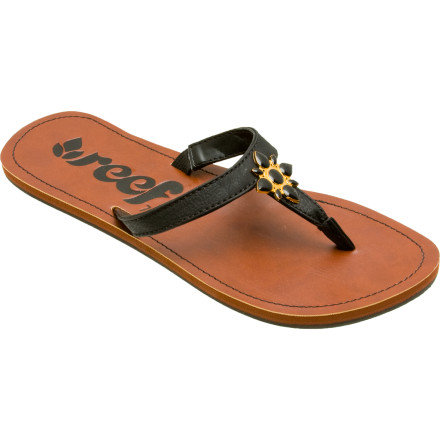 Entertainment The Reef Women's Lu Anne Sandal blends the lightweight, airy feel of a flip flop with the comfort of a supportive sole to achieve a comfortable, fashion-forward sandal. Slip it on for the beach or rock it with a maxi dress or flowing skirt. - $17.98