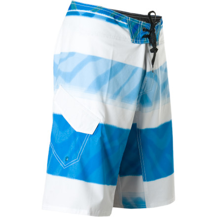 Surf Whether you're paddling straight into the surf or outrunning a rogue wave on shore, the four-way stretch Reef Stripe Conflict Board Short helps you do it in stylish comfort. The waves can beat you down all they want, but with this quick-drying board short tied onto your waist, you can be sure that when you're ready to hit the bar, you won't have to go naked. - $40.77