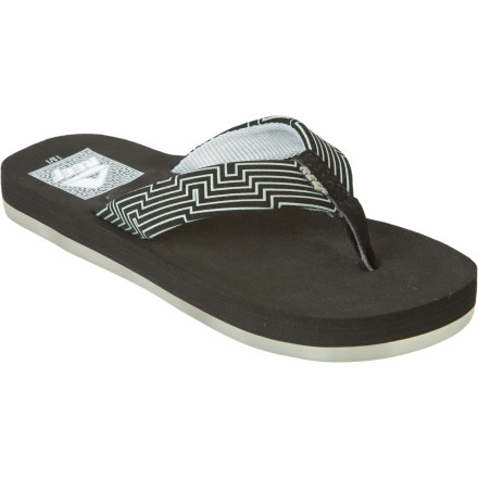 Entertainment The Reef Boys' A-Maze Sandal packs enough comfort to make a day at the beach feel like, well, a day at the beach. Of course, you know what that means. Because when Junior is comfortable, you're comfortable, too. - $14.98