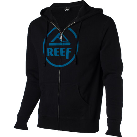 Surf The Reef Men's Vintage Circle Full-Zip Hoody drives a car that can only be described as late-'60s American muscle and it prefers vinyl to digital recordings because it keeps it real and kicks it old school. - $27.98