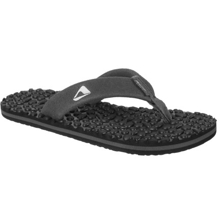 Entertainment From the pool to the ocean, the Reef Boys' Grom Thermo Ahi Sandal helps a young dude maintain solid footing and all-day comfort no matter how much time he spends in the water. - $14.37