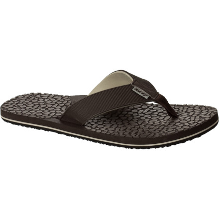 Surf Sandals should be comfy and casual, like the Reef Wax Injector Men's Sandal. Full EVA construction makes it light and soft for maximum comfort, yet still durable enough for everyday use and quick-drying for those who are constantly in and out of the water all summer. - $16.77