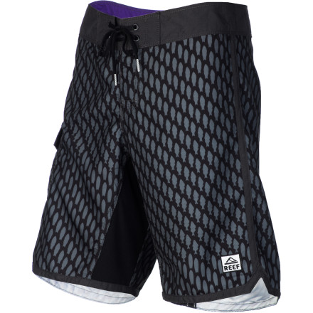 Surf Whether you're about to wakeboard, surf, or spear fish, slide on the Reef Men's Fish Transformed Board shorts for stellar comfort and stretch in the water. - $50.96