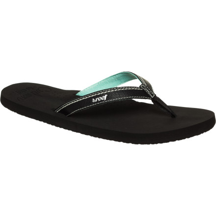 Surf If you practically live in flip flops, you might as well make sure they're comfy. The Reef Stitched Cushion Women's Sandal features a super-soft EVA footbed with arch support to keep your feet satisfied whether you're walking around all day or just relaxing. - $17.57