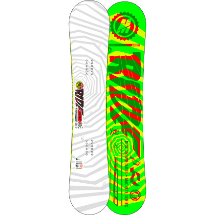 Snowboard The Ride Machete Wide Snowboard handles business everywhere from park laps to backcountry booter sessions. A floaty Lowrize rocker shape teams up with the poppy Carbon Array 3 layout to deliver a snappy, fun ride that won't punish you while learning new tricks. - $321.97