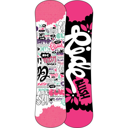 Snowboard Sledding, building snowmen, and snowball fights are fun and all, but the Girls' Blush Snowboard will open up a whole new world of winter-time fun for your little snow queen. Ride's LowRize rocker profile, soft Gummy core, and twin shape make the Blush an easy board for learning the basics and progressing. - $107.97