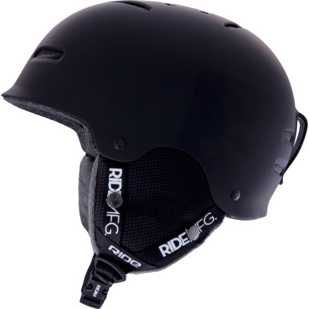 Snowboard The Ride Gonzo Helmet is for folks who want a no-nonsense, no-frills, stylish brain bucket. The gonzo offers gobs of protection and passes ASTM and CE certifications for safety. The plush, fleecy lining and passive venting system keep you comfortable while you rip in absolute safety. - $59.96