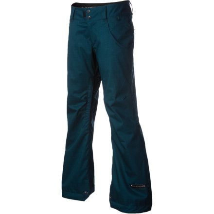 Snowboard Styled with the classic look of a denim jean and equipped with weather-beating technology that's totally mean, the Ride Women's Eastlake Pant equips you to rip in white cement with excessive amounts of style. - $65.97