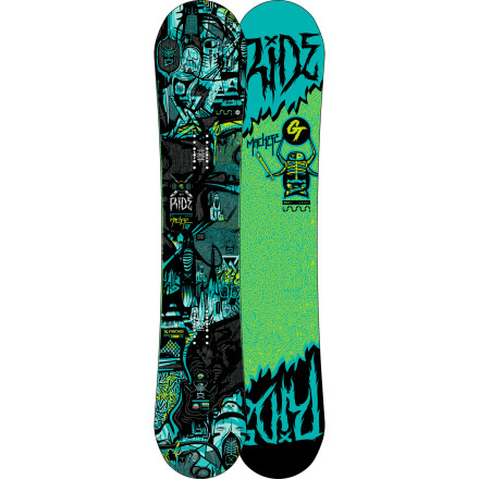 Snowboard The Machete GT Snowboard is a performance twin that builds on the Machete legacy with the addition of new POPwalls and the incredibly versatile Hybrid LowRize Rocker Profile. The same true-twin shape gets ramped up for all-mountain action with carbonized pop, reactive response, and the weight-saving Membrain topsheet. - $329.97