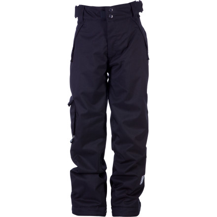 Snowboard When you're getting after it all day, every day, you need a pant that can keep up with you. Pick up the Ride Boys' Charger Snowboard Pant and you'll get 80g of synthetic insulation to keep you warm on the coldest days, Shred-Free pant legs that don't rip every time you walk across the parking lot, and Growth Seams that extend the pant legs an extra inch and a half so you can continue to rock them next season. - $38.48