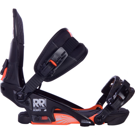 Snowboard Street sessions, park laps, and big, boned-out grabs are the Ride Rodeo Snowboard Binding's vice of choice. A forgiving feel gives you the flexibility you need to lock in a nasty nosepress or finally learn that elusive seatbelt air. - $137.97