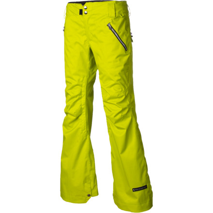 Snowboard You may ride like a guy, but you'll look like a lady in the Ride Women's Leschi Snowboard Pant. Slim fit keeps you looking chic, while the 15K-rated fabric and tricot lining ensure you stay dry and warm, so you feel as good as you look. - $125.97