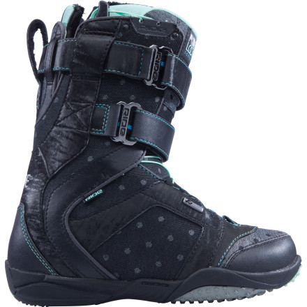 Snowboard You could carve down the mountain with your eyes closed. Its time to make the terrain park your bitch. Lace up the flexie, sneaker-style Ride Locket Snowboard Boots, tighten the hook-and-loop top cuff, and go get your tweak on. - $94.98