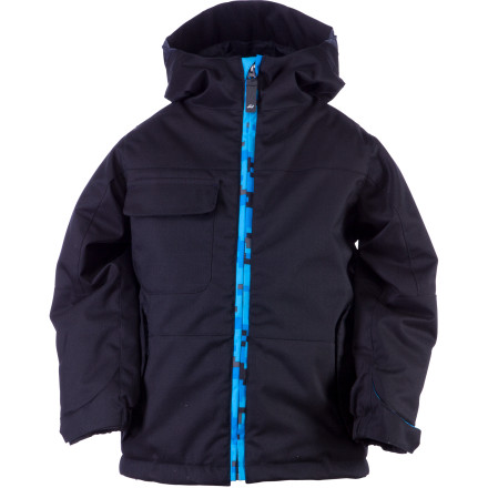 Snowboard It's all fun and games until someone gets frozen. The Ride Little Boys' Joker Jacket turns up the heat so little riders can stay out there longer and not come back looking like they took a drink from the fire hose. - $65.97