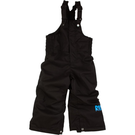 Snowboard Whether he's locked into lessons at the resort or throwing snowballs at the schoolyard, the Ride Little Boys' Wild Bib Pants provides the cozy warmth and water-resistant fabric to keep him out of the house for longer periods of time. It's a win-win. - $49.98