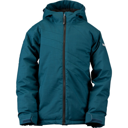 Snowboard The Ride Girl's Chevelle Jacket goes to great lengths to keep your young shredder out on the slopes and out of the lodge. She'll have no need of a warm-up stop when she has both the jacket's 80g insulation and cozy fleece removable liner jacket in her corner, fighting the cold. - $31.99