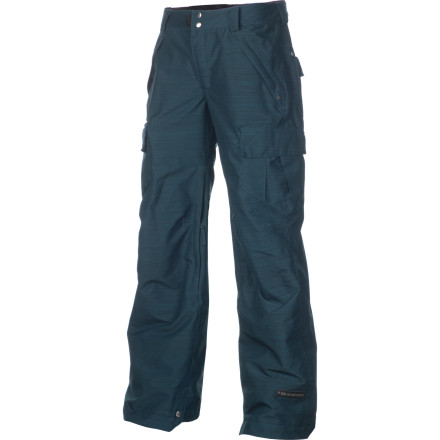 Snowboard The Ride Women's Beacon Boyfriend Fit Pant fits looser so you can crank down your game a little tighter. In addition to the relaxed but still feminine style, the Beacon is articulated around the knees to reduce excess fabric and increase mobility. Long, mesh-lined vents dump the heat and Boa boot gaiters allow you to tighten your boots midday without unpacking your whole ensemble. - $79.98