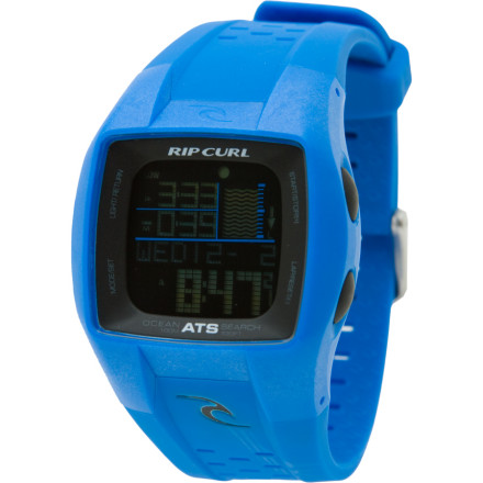Surf You know exactly when and where the surf's up because you have a Rip Curl Trestles Oceansearch Watch on your wrist. This digital watch comes pre-programmed with tide information for 200 locationsand if your local beach or the one you plan to travel to next week isn't on that list, you can add it in. - $149.95