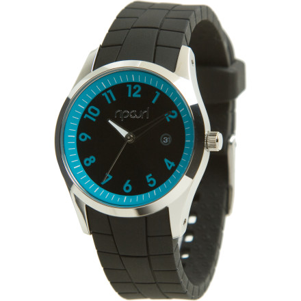 Entertainment The clean lines and bold style of the Rip Curl Women's Echo Silicone Watch will draw eyes to your wrist time and time again. This fresh update on a classic style features a sturdy waterproof stainless steel case and a super-comfy silicone straps. - $99.95