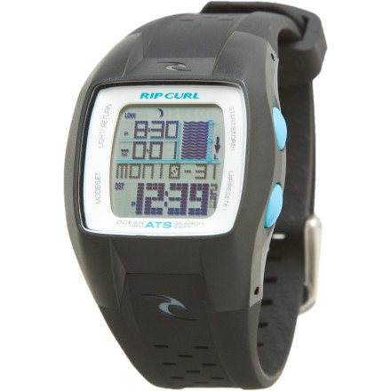 Entertainment Forget wondering if the tide is coming in or going out when you have the Rip Curl Women's Winki Oceansearch Watch on. This 100m water-resistant watch features an automatic tide system which easily programs to your favorite beaches. It also has surf-friendly housing, a heat timer, stopwatch, EL light, and a four-year battery lifespan. Plus, you don't have to worry about being delicate with this baby since it's made with high-impact plastic. - $149.95