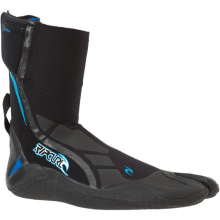 Surf The water's not cold enough to make your bone marrow freezebut it could be by the time you paddle out and wait for a fresh set to come in. The Rip Curl E-Bomb Pro 1.5mm Strapless Split Toe Boot offers a streamlined look, a functional split-toe design, and a high-traction outsole, giving your feet the best chance of coming home victorious after those semi-cold to 'OK, it's definitely cold' sessions. - $37.07