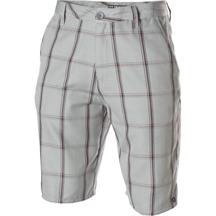 Surf The Rip Curl Clipper Walk Short sports a classy plaid pattern and a comfy, relaxed fit. - $29.67