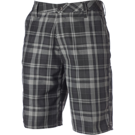 Climbing Pick the Rip Curl Men's Where It's At Short up off the floor, pull it on, and head out in search of a party. With a plaid chino-style short this versatile, you can blend right in whether you're dropping in at the local skatepark or climbing over the fence the crash the country club dance. - $24.28