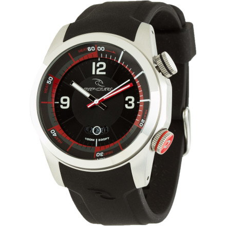 Entertainment You're meeting your buddies at the beach in 20. Slap on the Rip Curl Launch Heat Timer Watch, turn the bezel so you'll remember when you started the 20-minute countdown, and stuff some caffeine and fuel down your gullet. - $149.95