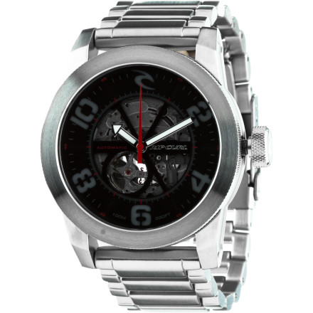 Entertainment The Ripcurl R1 Automatic SS Watch never needs its battery changed, because it doesn't use one. It's kinetically powered, which means it charges itself whenever you walk around, give high-fives, or slap one of your idiot friends upside the head. - $374.95