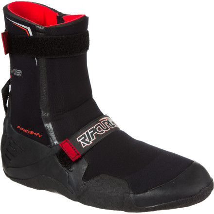 Surf Wear the Rip Curl Men's F-Bomb 7mm Round Toe Boot when snowflakes fall from the sky and you want to last more than five minutes in cold waters. This bootie's 7mm neoprene, double-taped seams, and FlashDry technology keep your toes alive and well while you enjoy an uncrowded surf session. - $69.95