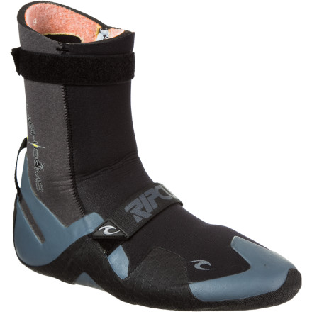 Surf The temperature may be less than ideal outside, but that doesn't stop you from zipping up your 4/3 wetsuit and sliding your foot into the Rip Curl Men's Flash Bomb 7mm Round Toe Boot. Designed to keep your foot comfortable from 35-degrees Fahrenheit and up, the Flash Bomb delivers solid warmth and comfort when you get barreled in cold water temperatures. - $64.95