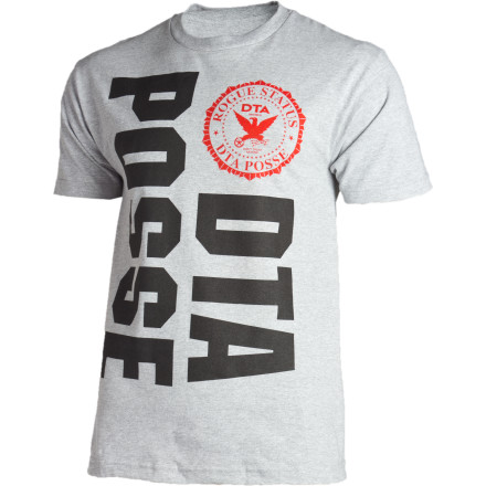 Your old posse crest t-shirt got eaten by your cyborg maid. Hopefully she won't eat your Rogue Status New Posse Crest T-Shirt. - $14.37