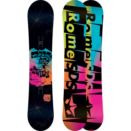 Snowboard The Rome Women's Lo-Fi Snowboard was designed with a flex to ride jumps, jibs, park hits, and powder all in the same day and with the durability to support the habit for many seasons to come. If you don't believe us, just ask Marie France Roy. - $269.97