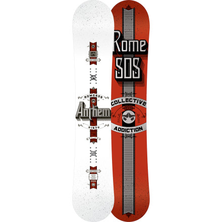 Snowboard Natural terrain is the canvas and the Rome Anthem Snowboard is the brush. Carbon and KEVLAR additives assist you, the artist, with carving your brush strokes into untouched powder fields, steep chutes, and early morning corduroy. - $305.97