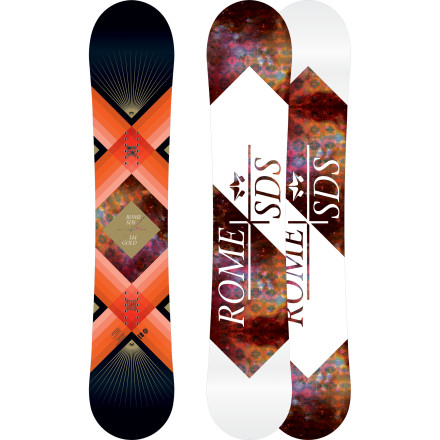 Snowboard From lofty park hits to tight-and-fast tree runs, the all-new Rome Women's Gold Snowboard utilizes construction rich in tech that will have you beaming with stoke. - $299.97