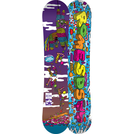 Snowboard Groms riding the Rome Kids' Label Rocker Snowboard have no fear about straight-tracking into jumps, popping into combos on rails, and straying off the cat-track for powdery plunder. This is the vehicle that will not only establish the foundation but escalate it to frightening levels. - $155.97