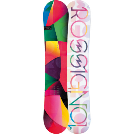 Snowboard A lot of folks think they need the best, most expensive board to learn how to snowboard. Bad idea. What you need is a soft, forgiving board like the Rossignol Women's Tesla Amptek Snowboard. The Tesla won't punish you mercilessly for making a mistake like a stiff, high-performance board because the soft flex keeps the edges from catching unexpectedly and the rockered profile allows you to slide the board around under you without face-planting. There now, isn't that a whole lot better - $179.97