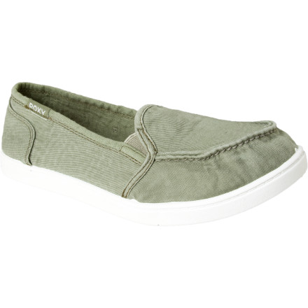 Surf The Roxy Women's Lido Shoe is so soft, so comfortable, you just may spend your afternoon walking around the boardwalk rather than go to the beach. With a breathable canvas upper, padded canvas-lined insole, and ultra-flexy outsole, the Lido makes a convincing argument for staying off the sand. Besides, how could you show off this super-cute slip-on if it's tucked into your beach tote - $23.40