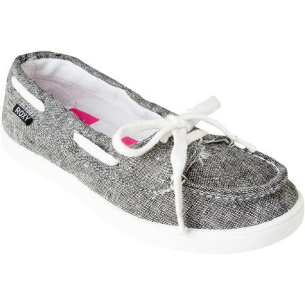 Surf The Roxy Women's Ahoy Shoes step up the comfort level with their new freakishly flexible soles. The TPR injected soles are so limber and lithe that you can twist, bend, and squish them like a spongeimagine how they'll feel on your feet. - $19.50