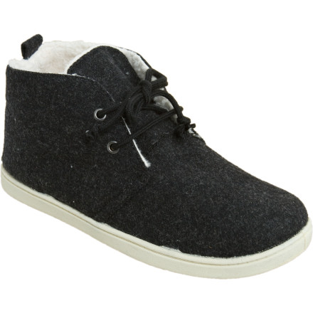 Surf The chukka-style Roxy Gypsy Shoes feature a faux-fur lining and padded insole for outrageous comfort, and a no-slip TPR outsole for sure footing on icy sidewalks and stairs. - $34.30
