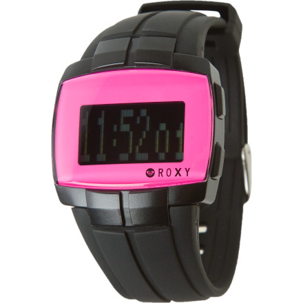 Entertainment Hit the highway wearing the Roxy Women's My Way Watch. You'll get where you're going on time (unless you hit traffic, of course) when you have this sporty digital watch strapped to your wrist. You can make sure you have the right day for your appointment with the calendar feature, and you can time your waits at stop lights in case you have to invent and excuse for being tardy. You certainly can't use the lack of an alarm as an excuse. - $49.50