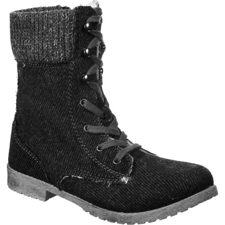 Ski The Roxy Denver Boot seamlessly crosses over from the swanky ski lodge to the city streets. This boot's winter-friendly wool upper boasts a deliciously warm faux fur lining and sweater-knit cuffs. Sturdy rubber outsoles let you keep your poise as you stroll down the street.... You don't want to be known as 'that girl who slipped,' now, do you - $44.85