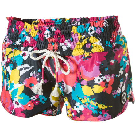 Surf Don't let your boardies harsh your swimsuit's buzz. The Roxy Free Fall Board Shorts add radness along with extra coverage. - $41.40