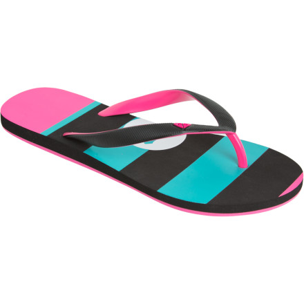 Surf The Roxy Tahiti III Sandals don't mind wetness from the ocean, the pool, or the gym locker-room floor. Like you, they prefer the ocean, but they won't complain either way. - $9.00