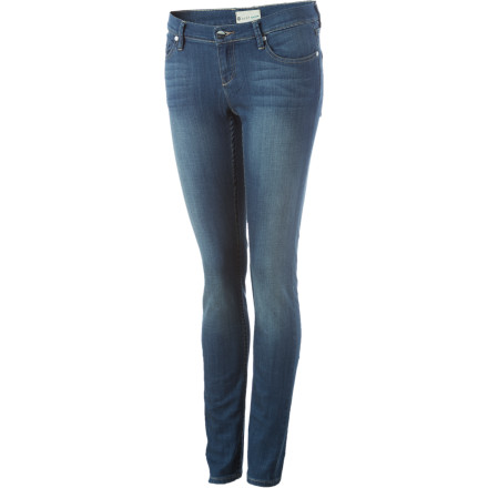 Climbing The Roxy Skinny Slides Jeans have a broken-in feel and just the right amount of stretch so you dont have to walk around like a robot the first five times you wear them. Additional bonuses are the ability to sit down, climb stairs, and execute roundhouse kicks to the face. - $23.80