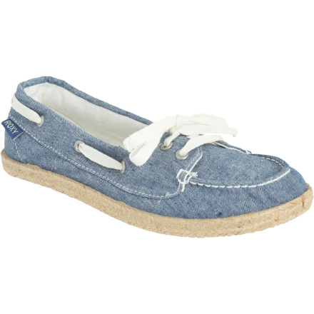 Surf Slip your feet into your Roxy Ahoy Jute Shoes and come aboard. Jute around the soles adds an authentic, earthy quality, and the decorative laces add a feminine touch. - $21.00