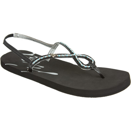 Entertainment Slide your feet into Roxy's Acapulco Sandals, and pack what you need for a day (and perhaps part of the night) on the beach. The back straps on these flips mean you won't wake your bungalow-mates up when you sneak in early the next morning. - $15.60