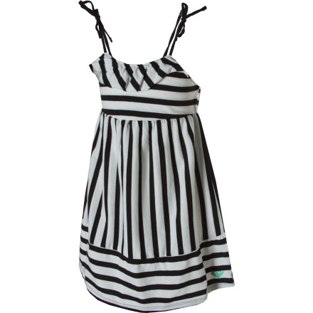 Entertainment What do you get when you mix a little bit of ruffles with a multicolored print and some adjustable (and adorable) tie straps You get the Roxy Little Girls' Just Peachy Dress and a great opportunity to do some twirling. - $17.00