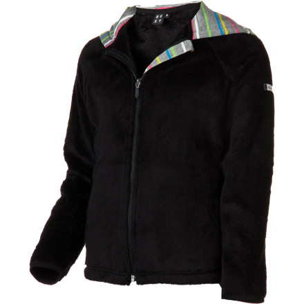 Surf Toss on the Roxy Girls' Maple Girl Fleece and revel in its cozy fleece fabric, jersey-lined hood and pockets, and simple, fresh style. - $35.00