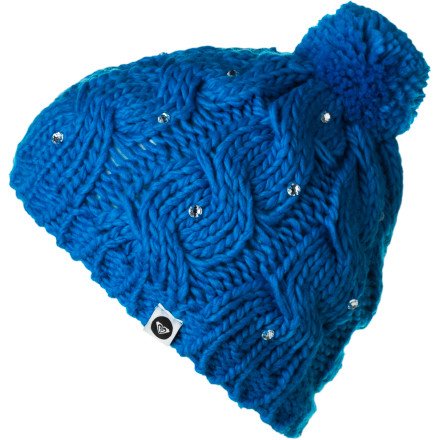 Surf Roxy Shooting Star Girl Pom Beanie - Girls' - $13.20